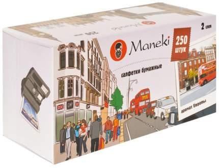 Салфетки бумажные Maneki dream двухслойные 250 штук