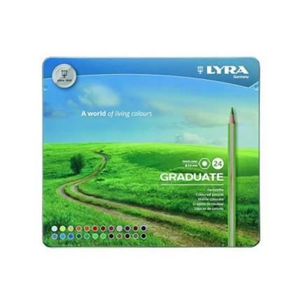 Lyra Цветные гексагональные карандаши LYRA GRADUATE PERMANENT 24 цветов