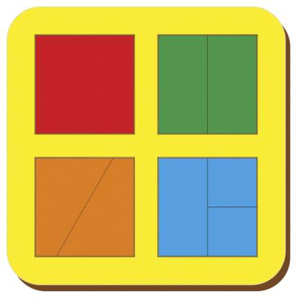 Рамки-вкладыши Woodland Сложи квадрат Никитин 64201 4 квадрата уровень 1