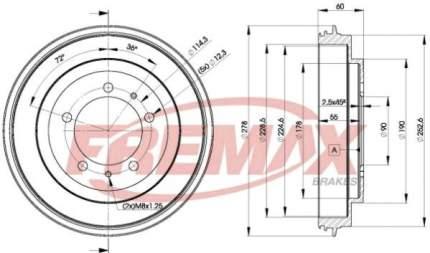 Тормозной барабан FREMAX BD-7040