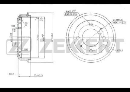 Тормозной барабан ZEKKERT BS-5587