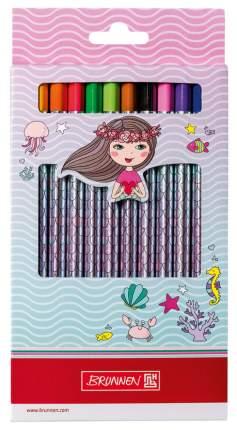 Набор цветных карандашей BRUNNEN Русалка BR29856642 12 шт