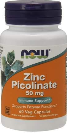 Цинк NOW Sports Zinc Picolinate 60 капсул