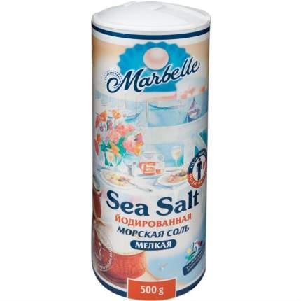 Соль морская Marbelle йодированная пищевая мелкая 500 г