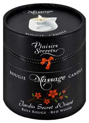Массажная свеча Plaisir Secret Jardin Secret D orient Bois Roug красное дерево 80 мл