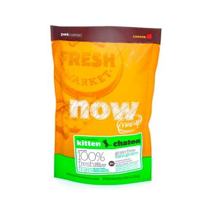 Сухой корм для котят NOW Grain Free, индейка, утка, овощи, 0,23кг