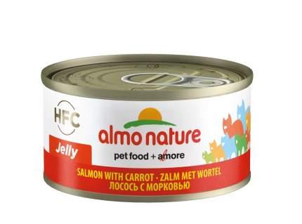 Консервы для кошек Almo Nature HFC Jelly, лосось и морковь, 70г
