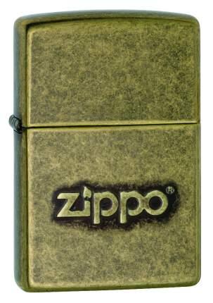 Зажигалка Zippo Logo Stamp Antique Brass