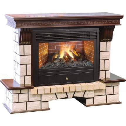 Керамический каминный комплект Real-Flame Stone new 26/HL с очагом 3D Novara