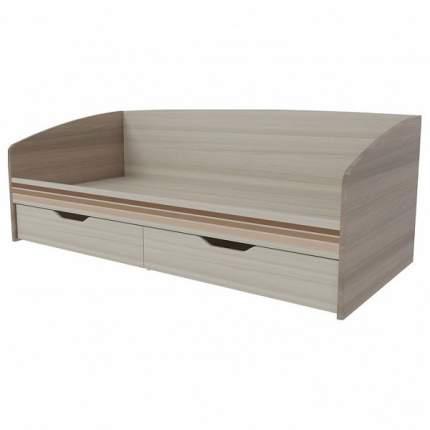 Кровать Mebelson Манхэттен 80х200 см, бежевый/коричневый