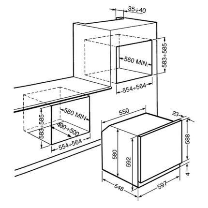 Встраиваемый электрический духовой шкаф Smeg SFP140S Silver