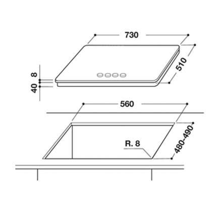 Встраиваемая варочная панель газовая Whirlpool GOA 7523/NB Black