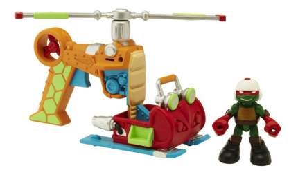 Фигурка черепашки-ниндзя раф с вертолетом, серия half shell hero