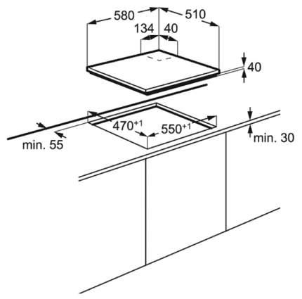Встраиваемая варочная панель комбинированная Electrolux EGE6182NOK Black