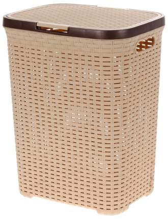 Корзина для белья с крышкой 40 л Виолет Ротанг бежевый (1840/2)