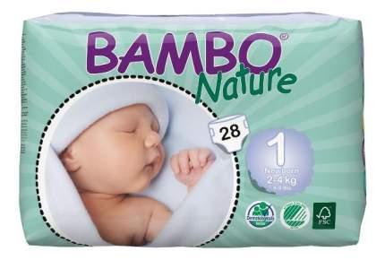 Подгузники для новорожденных Bambo Nature Newborn (2-4 кг), 28 шт.