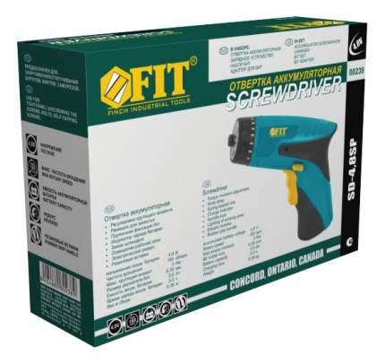 Аккумуляторная отвертка FIT SD-4,8SP 80238