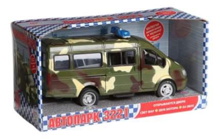 Инерционная машина автопарк военный микроавтобус 1:27 Play Smart А26077
