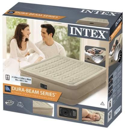 Надувная кровать Intex 64458 Ultra Plush Bed Queen 152х203х46 см встроенный насос 220V