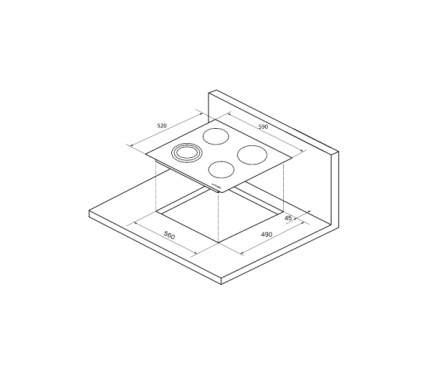Встраиваемая электрическая панель независимая Kuppersberg ECS 603