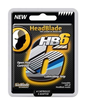 Набор сменных кассет для станка HeadBlade с 6ю лезвиями