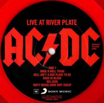 Виниловая пластинка AC/DC LIVE AT RIVER PLATE (Red vinyl)
