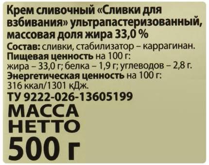 Сливки Петмол стерилизованные 33% 500 г