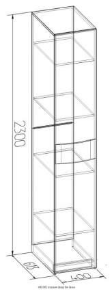 Платяной шкаф Глазов мебель GLZ_25101 40х61,3х230, венге