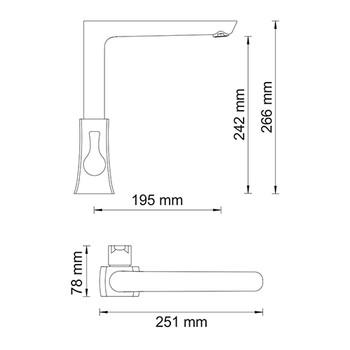 Смеситель для кухонной мойки WasserKRAFT Berkel 4807