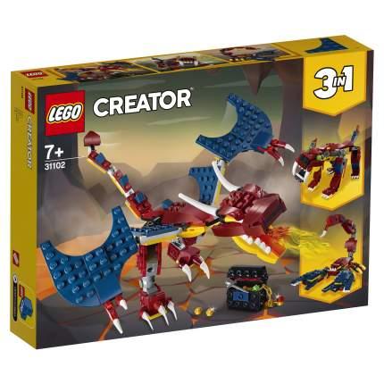Конструктор LEGO Creator 31102 Огненный дракон