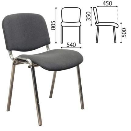 Офисный стул Olss ИЗО, хром/серый