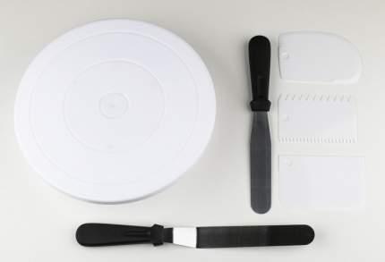 Набор для украшения торта Verona, 6 предметов, белый