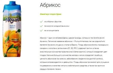 Абрикосовый нектар Noyan premium 1 л