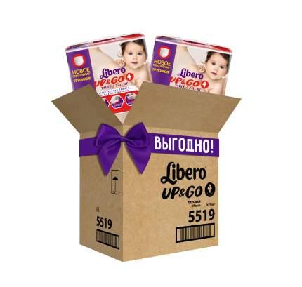 Подгузники-трусики Libero UP&GO Макси 7-11 кг гига упаковка 2*74 шт.