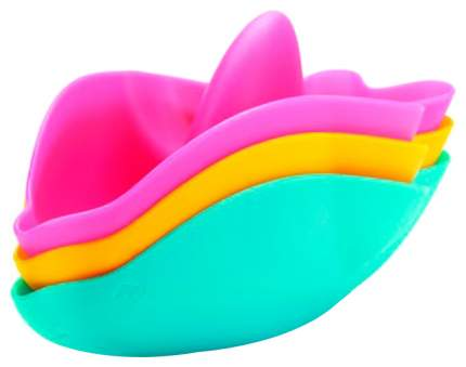 Набор игрушек для ванной Ubbi Дельфины Голубой, Желтый, Розовый
