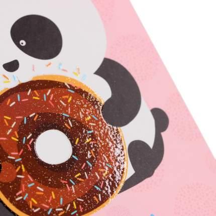 """Книга для записей """"Панда с пончиком"""" А6, 64л"""