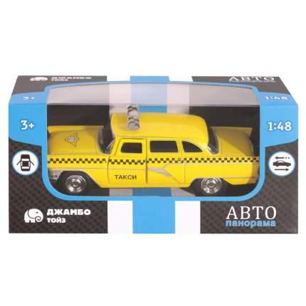 АВТОПАНОРАМА Машинка металлическая Такси, желтая, 1200084
