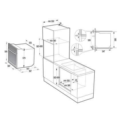 Встраиваемый электрический духовой шкаф Gorenje BO737E20BG-M Black