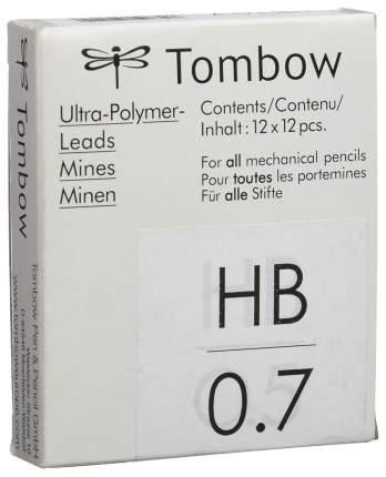 """Грифели для механических карандашей Tombow """"Mono"""", 0,7 мм, HB, 12 штук"""