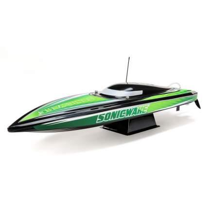 Радиоуправляемый катер ProBoat Sonicwake 36 Self-Righting Brushless Deep-V RTR (зелёный)