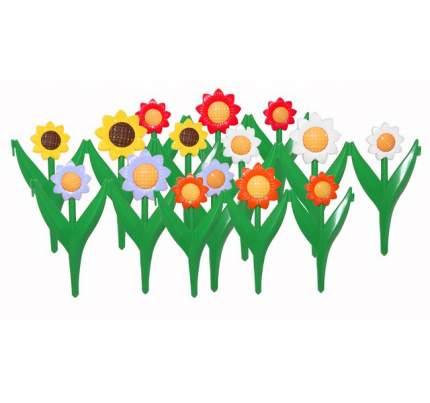 Заборчик пластиковый садовый Ромашка высота 32,5см длина 2,25м (5 секций) Либра