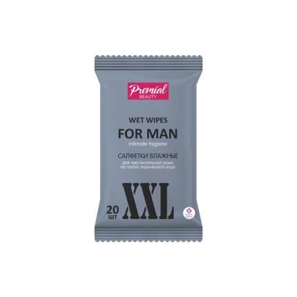 Premial Влажные салфетки для интимной гигиены муж, 20 шт,
