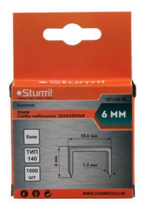 Скобы для электростеплера Sturm! 1071-03-06