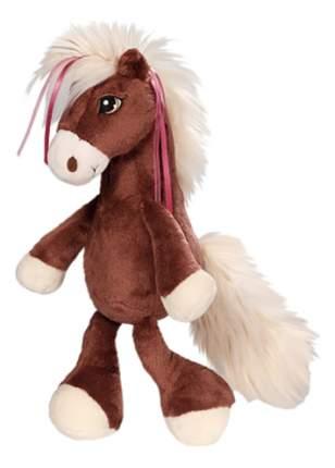 Мягкая игрушка NICI Лошадка Вельвет коричневая, сидячая, 35 см