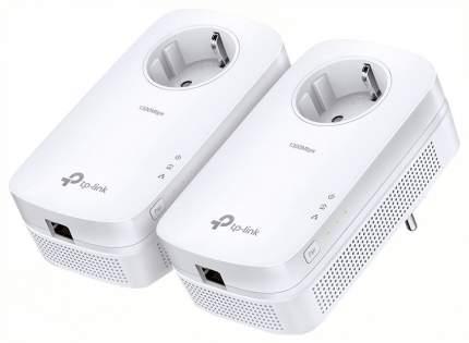 Комплект сетевых гигабитных адаптеров Powerline AV1200 со встроенной розеткой