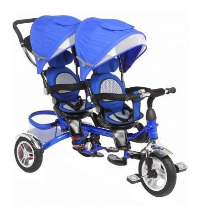 Велосипед трехколесный Capella Twist Trike 360 для двойни синий