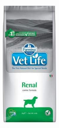 Сухой корм для собак Farmina Vet Life Renal, при почечной недостаточности, злаки, 2кг