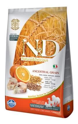 Сухой корм для собак Farmina N&D Medium, для средних пород, треска и апельсин, 12кг