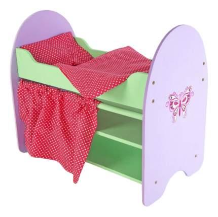 Кроватка с полочками Бабочка для кукол Mary Poppins