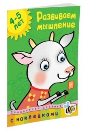 Книга С наклейками Махаон Дошкольная Мозаика. Развиваем Мышление (4-5 лет)